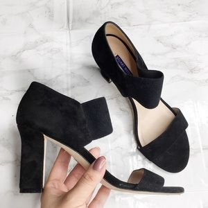 Stuart Weitzman Strappy Suede Leather Heels